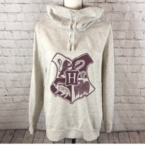 df5891af Harry Potter Hogwarts Graphic Cowlneck Sweater. M_5c6d9a5403087c4dd1b9ca9d